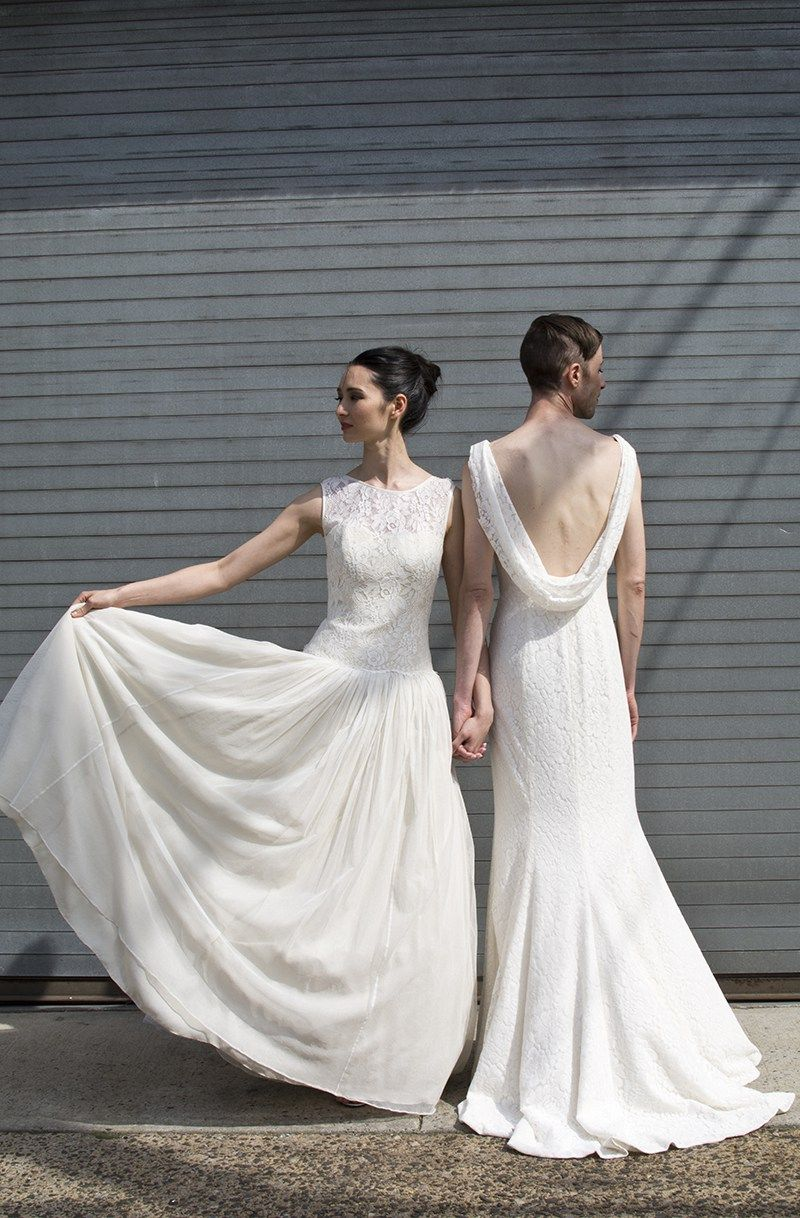 Gender fluid wedding dress photo shoot that stole our