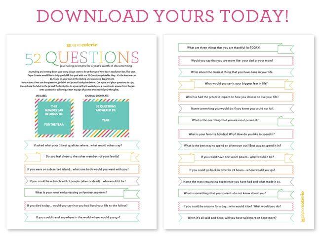 free printables 52 questions use em to make a gratitude jar