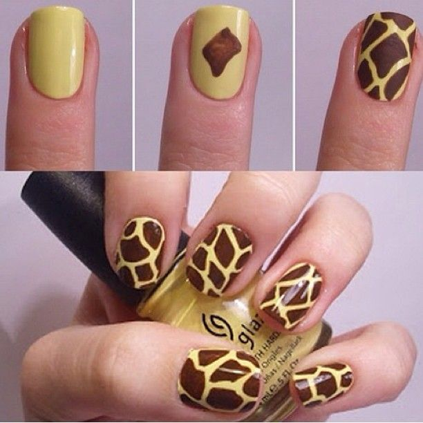 nails art  girafe