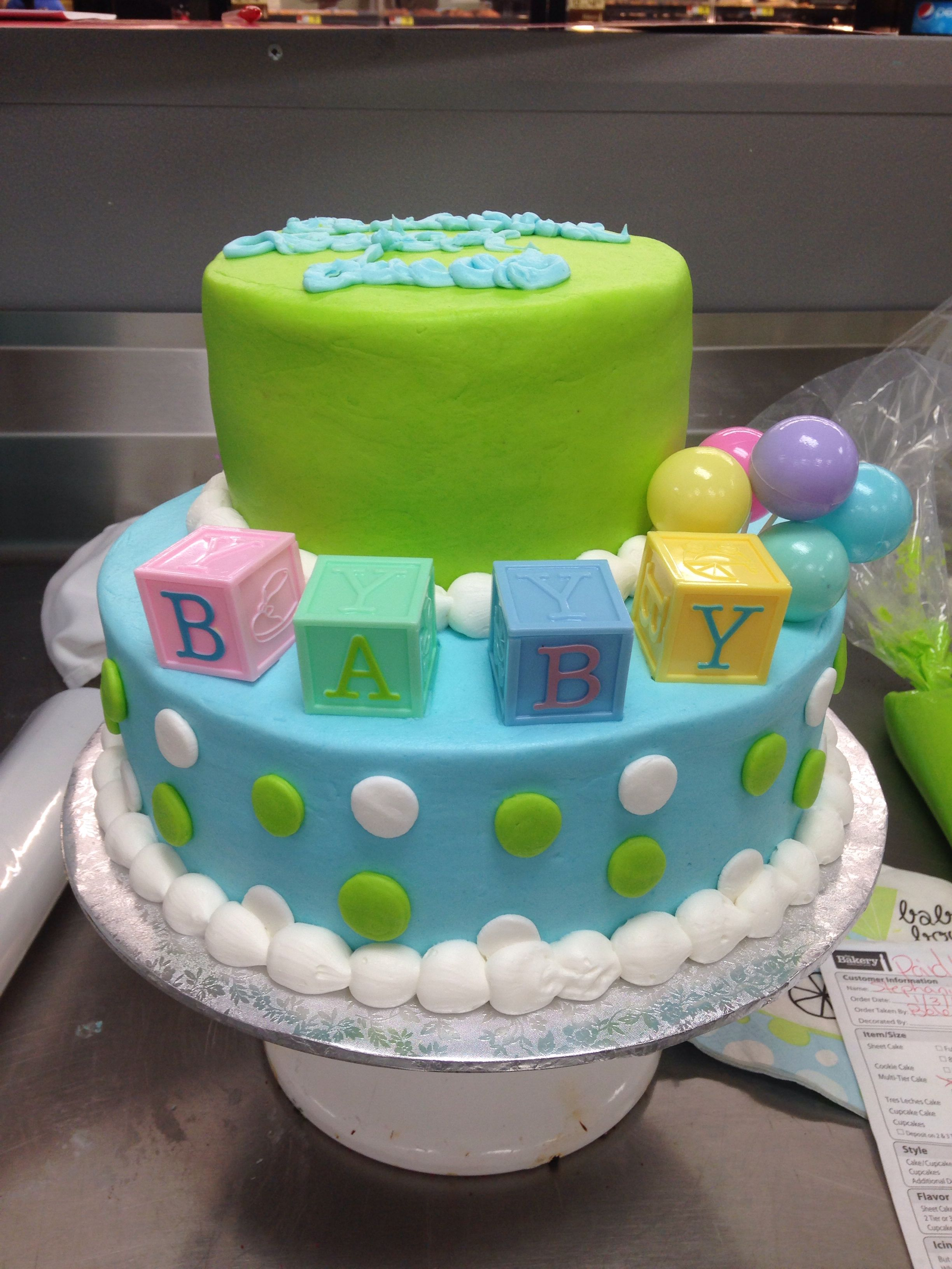 Custom Tier Cake Walmart Baby Shower