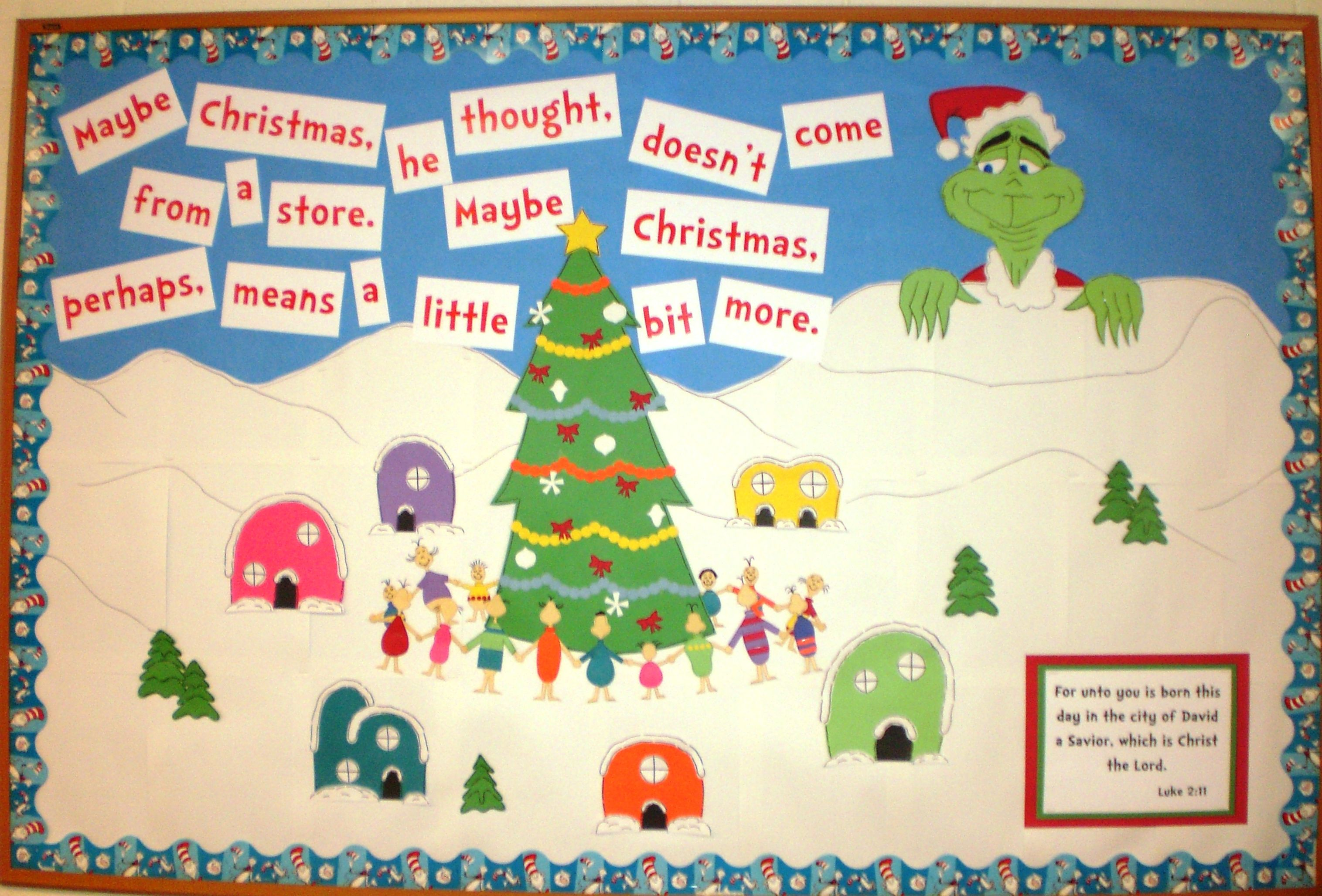 Dr Seuss Grinch Christmas Bulletin Board Put A Picture