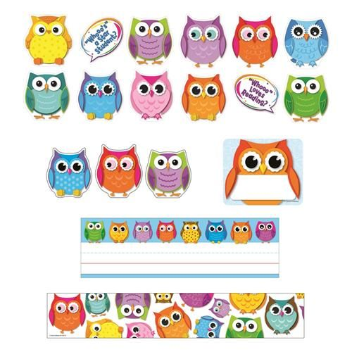 Owl Classroom Decorations Free : Colorful owls classroom decorations google search