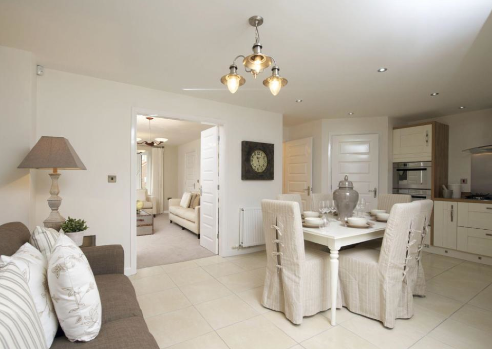 Barratt Homes - Thurcroft. Interior designed kitchen dining living ...