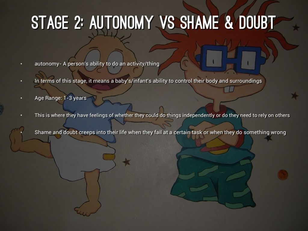 Stage Ii Autonomy Vs Shame Doubt Erikson S Stage Of