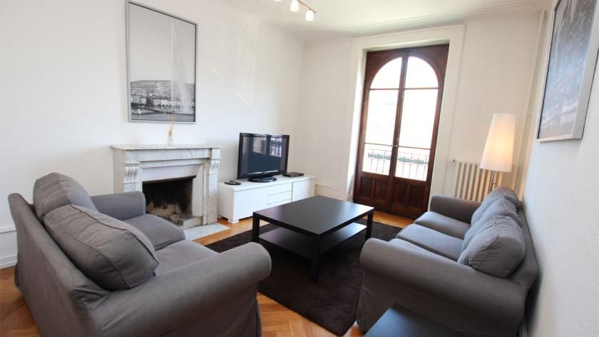 Furnished 4 room apartment - Rue de Lausanne 83 | 4500 CHF  Rent furnished 4 room apartment  Cornavin's train station's area. Nearby the lake and dowtown.  Very beautiful apartment including:   - an entrance hall   - a luminous living open on a pleasant balcon