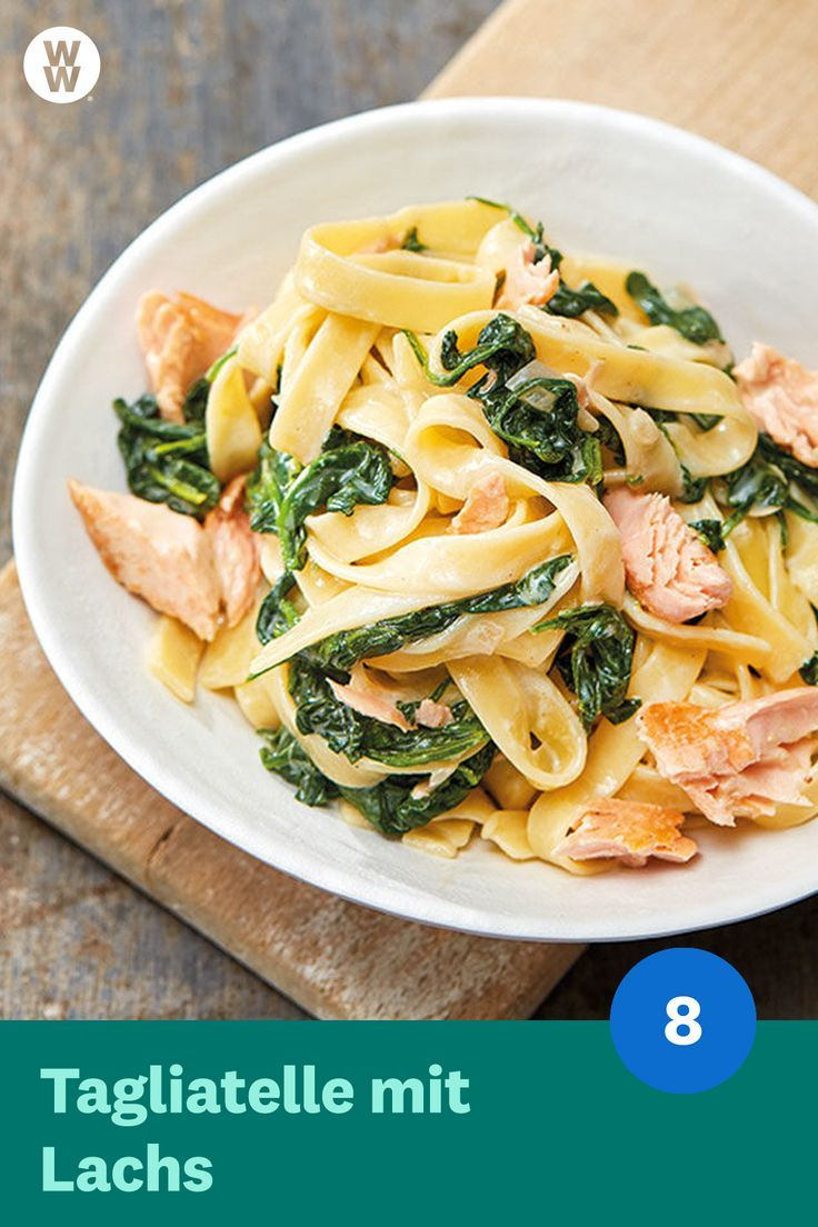 Photo of Tagliatelle with salmon and spinach recipe WW Germany