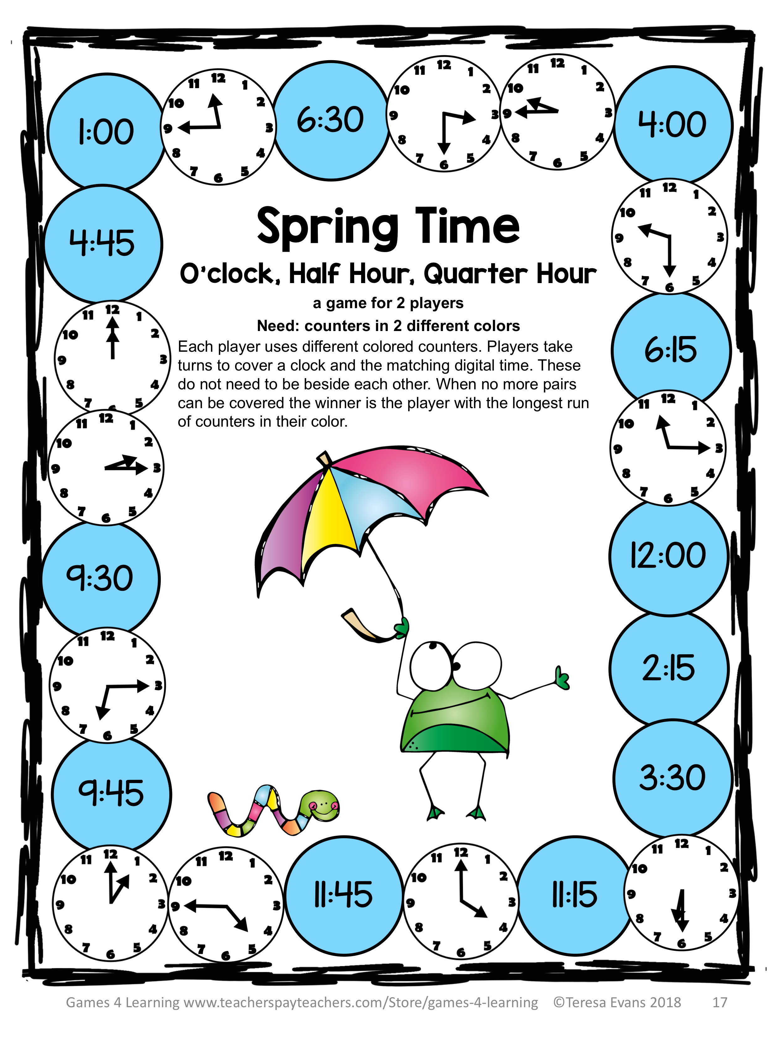 Spring Activities Spring Math Games Spring Math