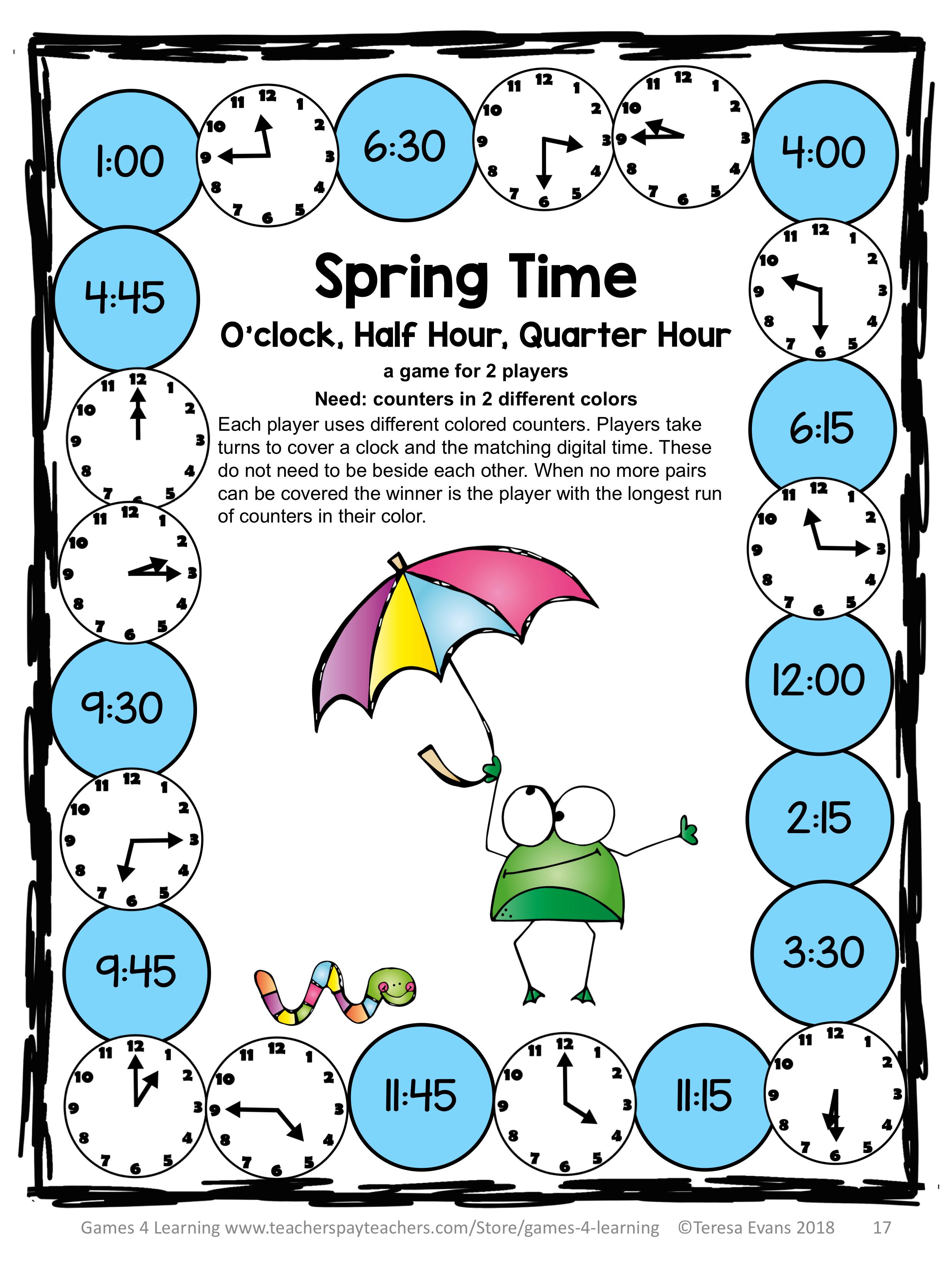 Spring Activities Spring Math Games Spring Math