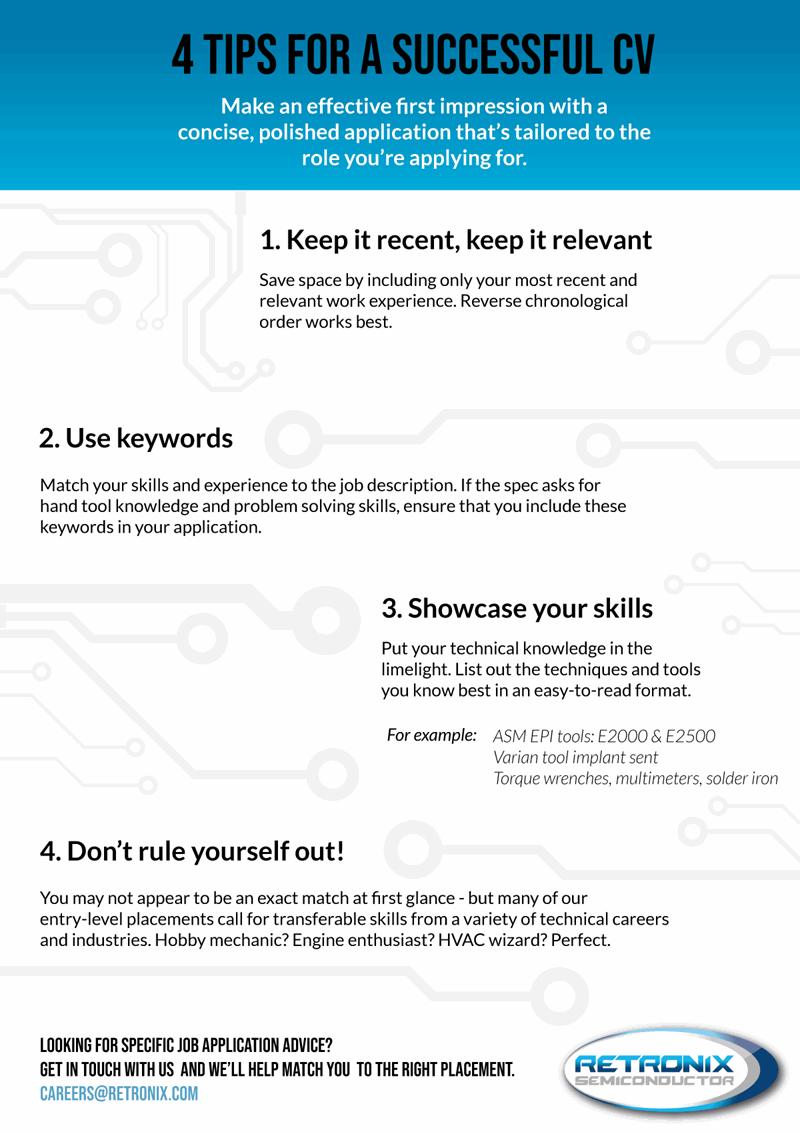 4 quick tips for a successful résumé Tips, Work