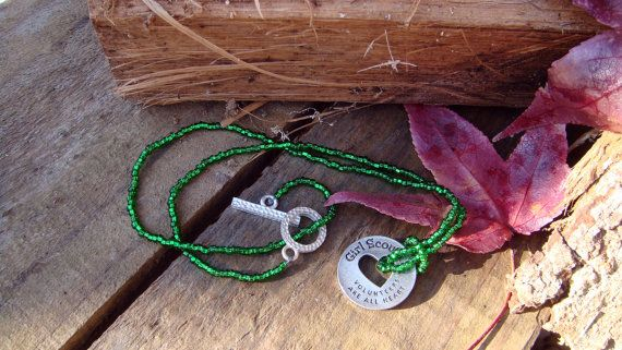 Girl Scout Volunteer necklace by LittleMotherGoose on Etsy, $15.00