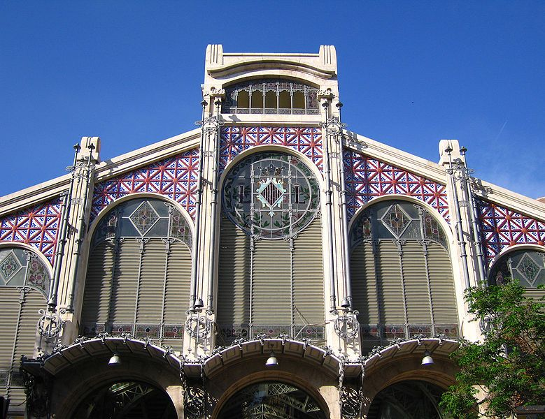 Fachada del Mercado Central.Valencia