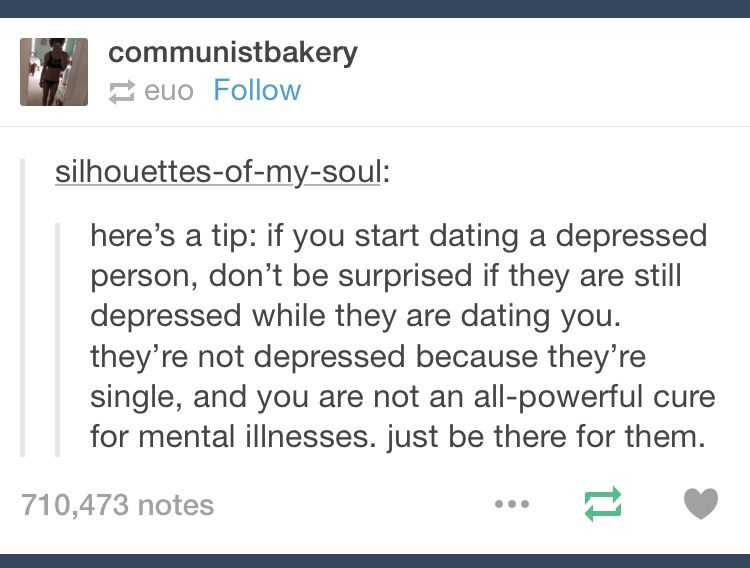 If you start dating a depressed person