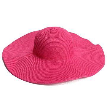Female Summer Sunshade Large Wide Floppy Brim Straw Beach Hats Colorful Caps Straw Hat Beach Summer Girls
