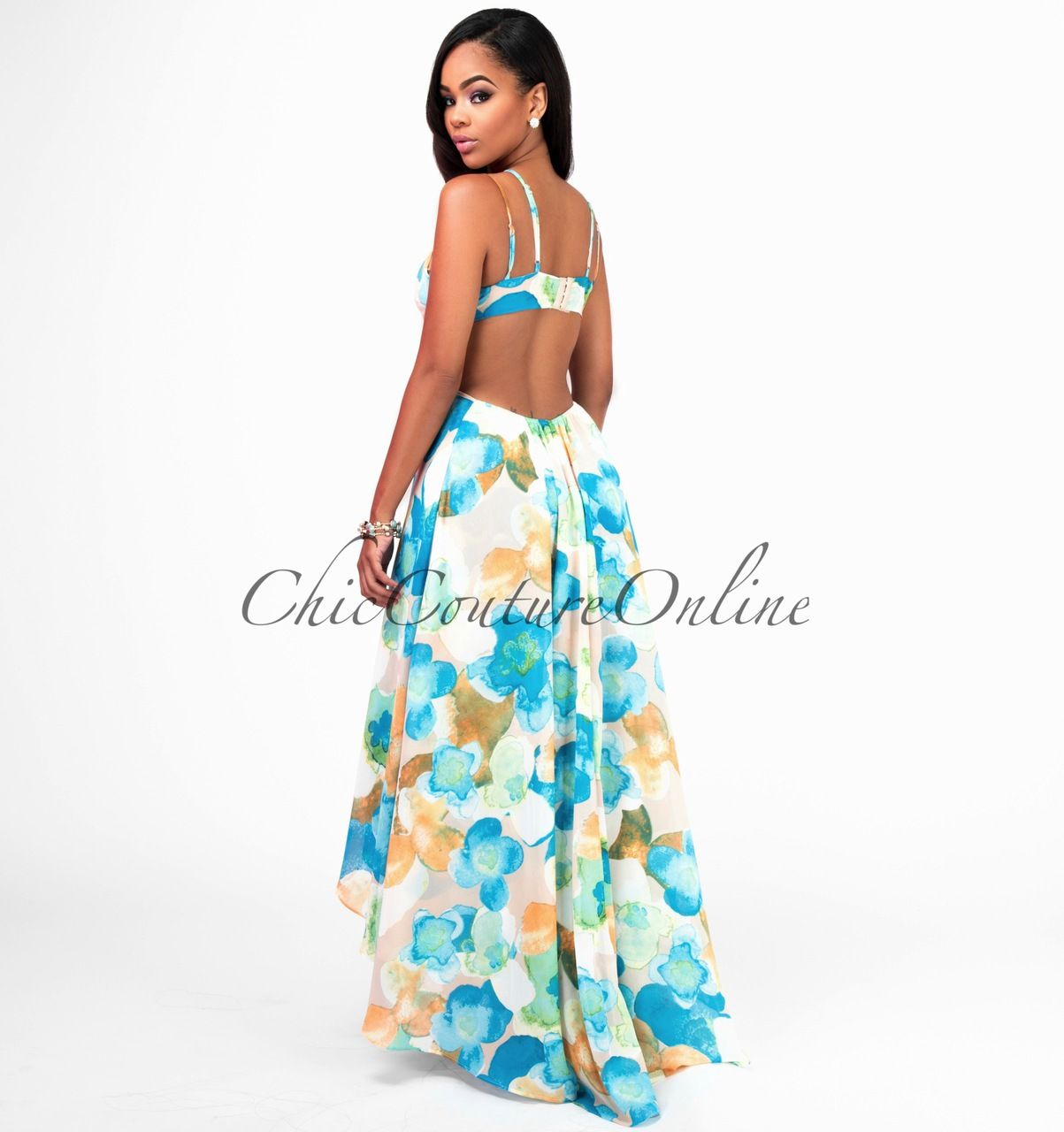 Aqua couture maxi dress