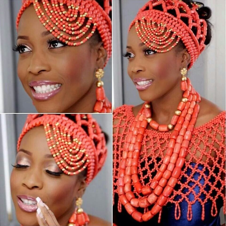 Coral beads crown nigerianwedding styles pinterest crown and