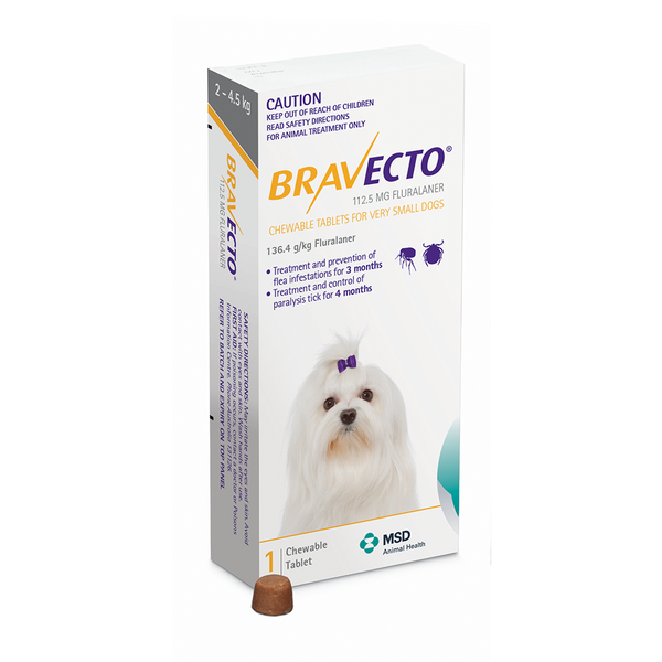 Bravecto 2 4.5kg For Dogs Very small dogs, Small dogs