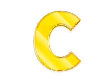 3d Golden Letter C Lettering Letter C Design Elements