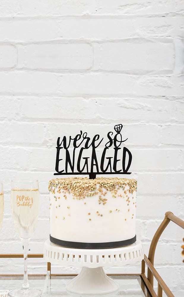 Acrylic Cake Toppers | Engagement Party