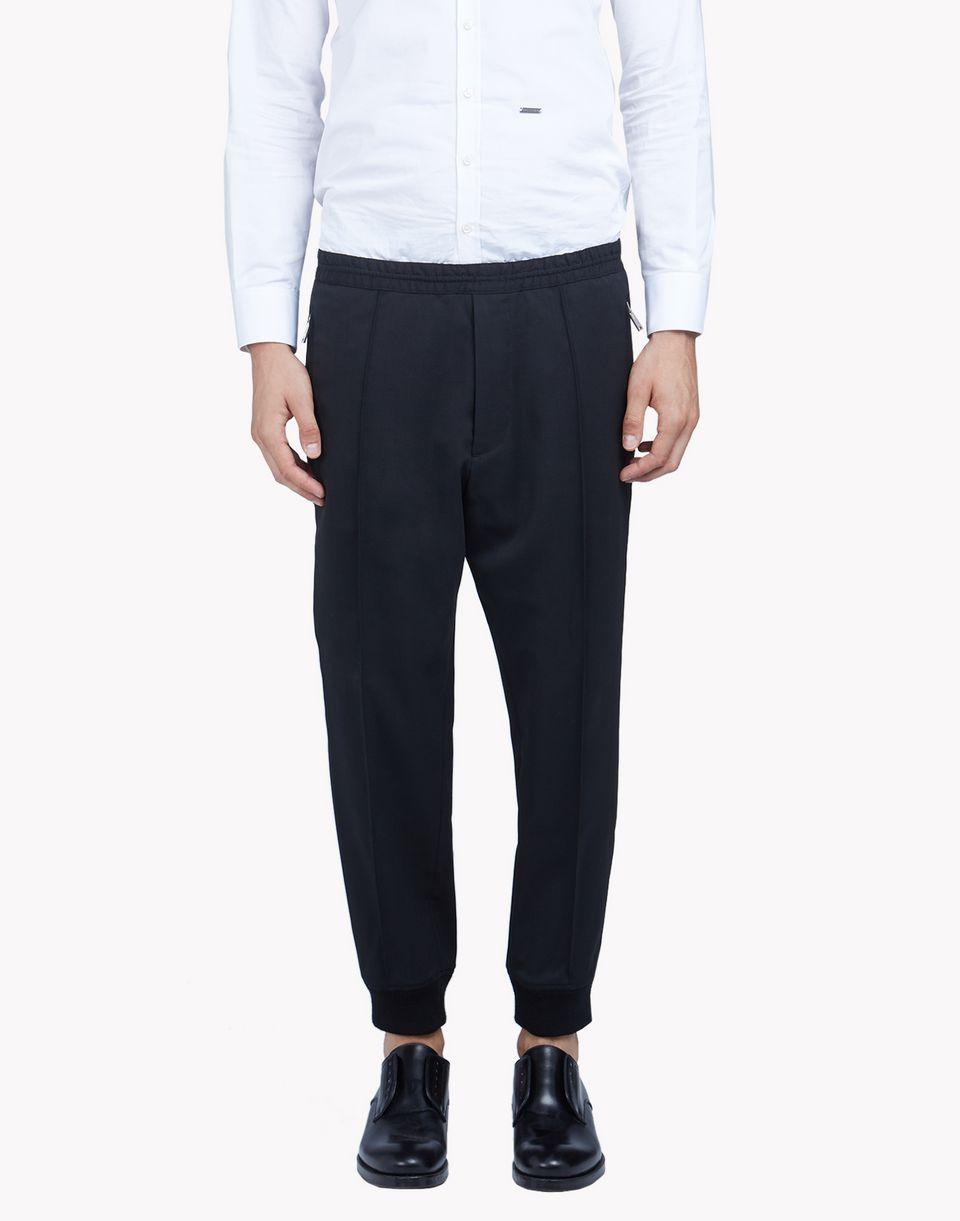 535c3f71ec04 Cropped Wool Jogging Pants - Pantalon Homme - Dsquared2 boutique en ligne  officielle
