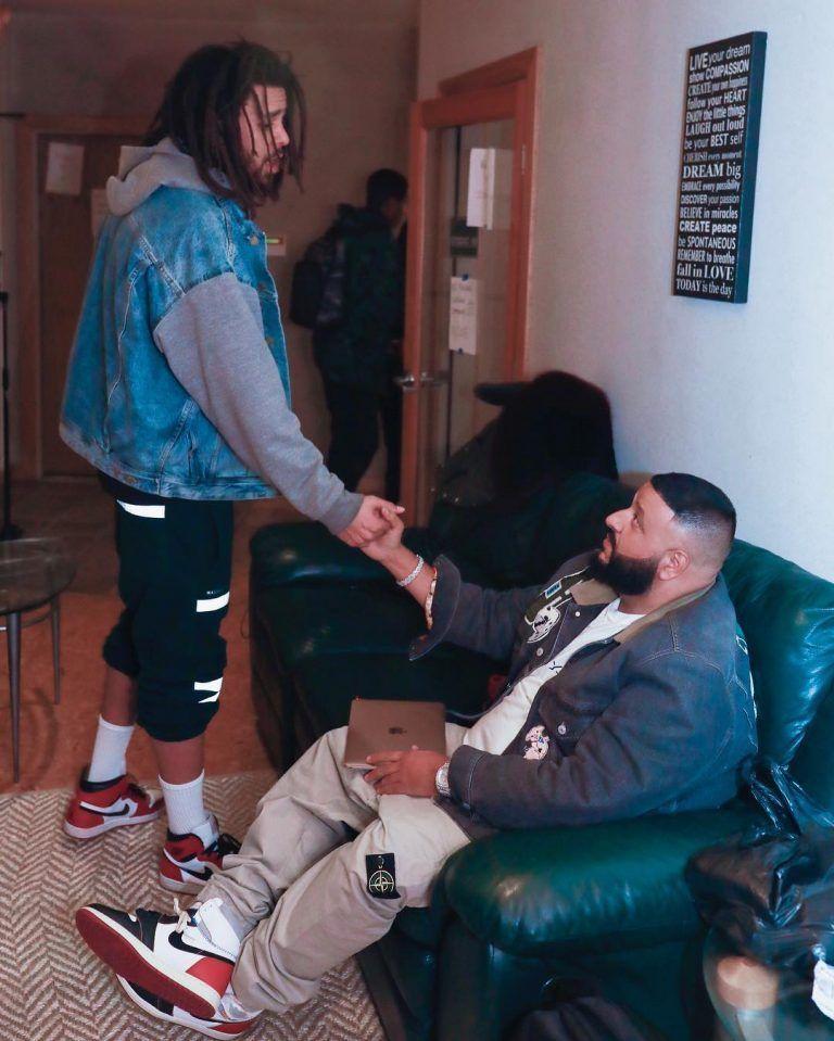 23a081350 DJ Khaled Seen With J. Cole Wearing Gucci Jacket