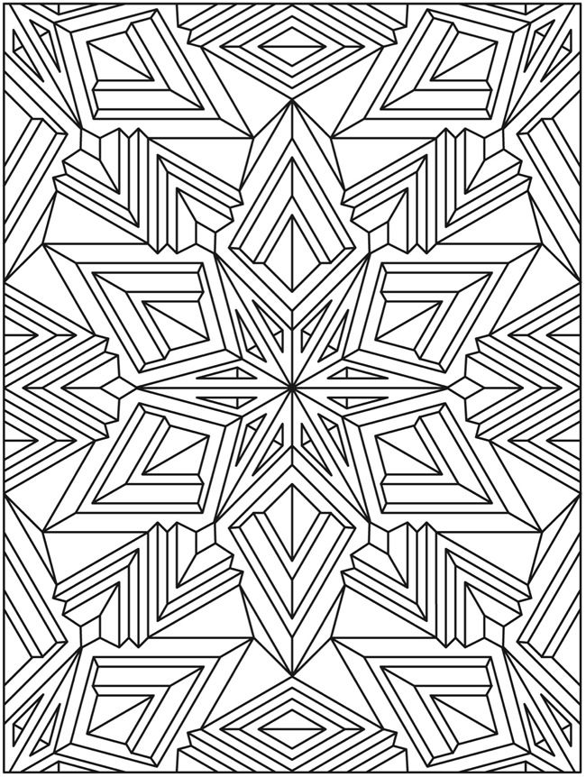 Welcome to Dover Publications Mandala Мандала coloring page ...