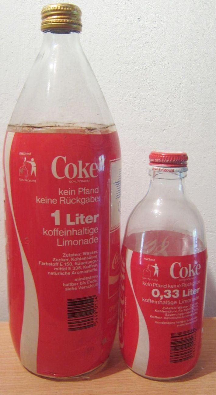 Coca Cola Bottles Germany LA84 Olympic Games 1 Litre 330ml Wrap