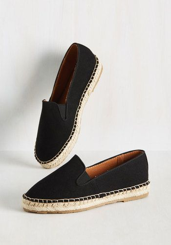 A quick way to find who your fashion soul mates are is to sport these black slip-on flats and see who they attract! This canvas pair's simple design, espadrille-inspired soles, and topstitching are rad, retro features that do an impressive job of drawing in like-minded lovelies.