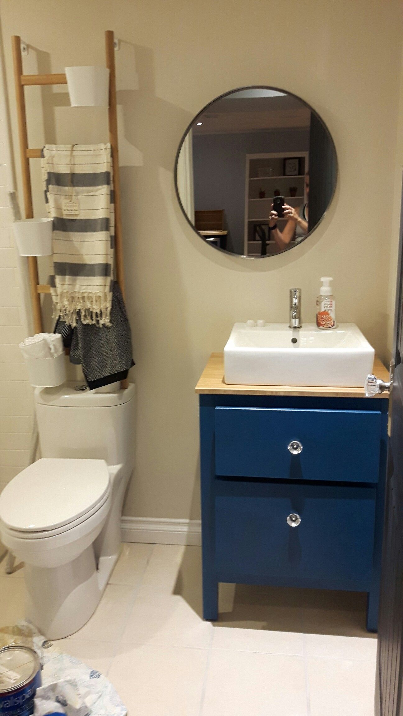 Ikea Hemnes Vanity Hack Bathroom In 2019 Corner Bathroom Vanity Small Bathroom Vanities