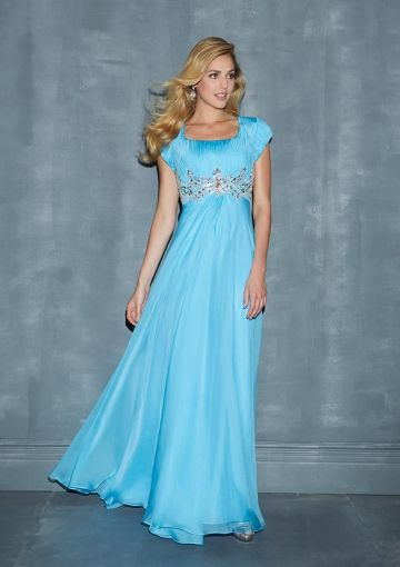 modest prom dresses 2014 | ... Ruched Bodice Chiffon Long Prom ...