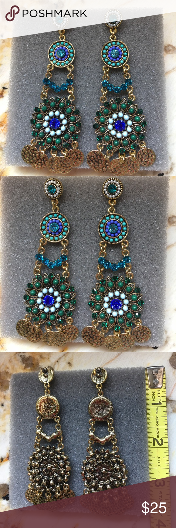 Nordstrom chandelier earrings gorgeous colors of deep blue green nordstrom chandelier earrings arubaitofo Choice Image