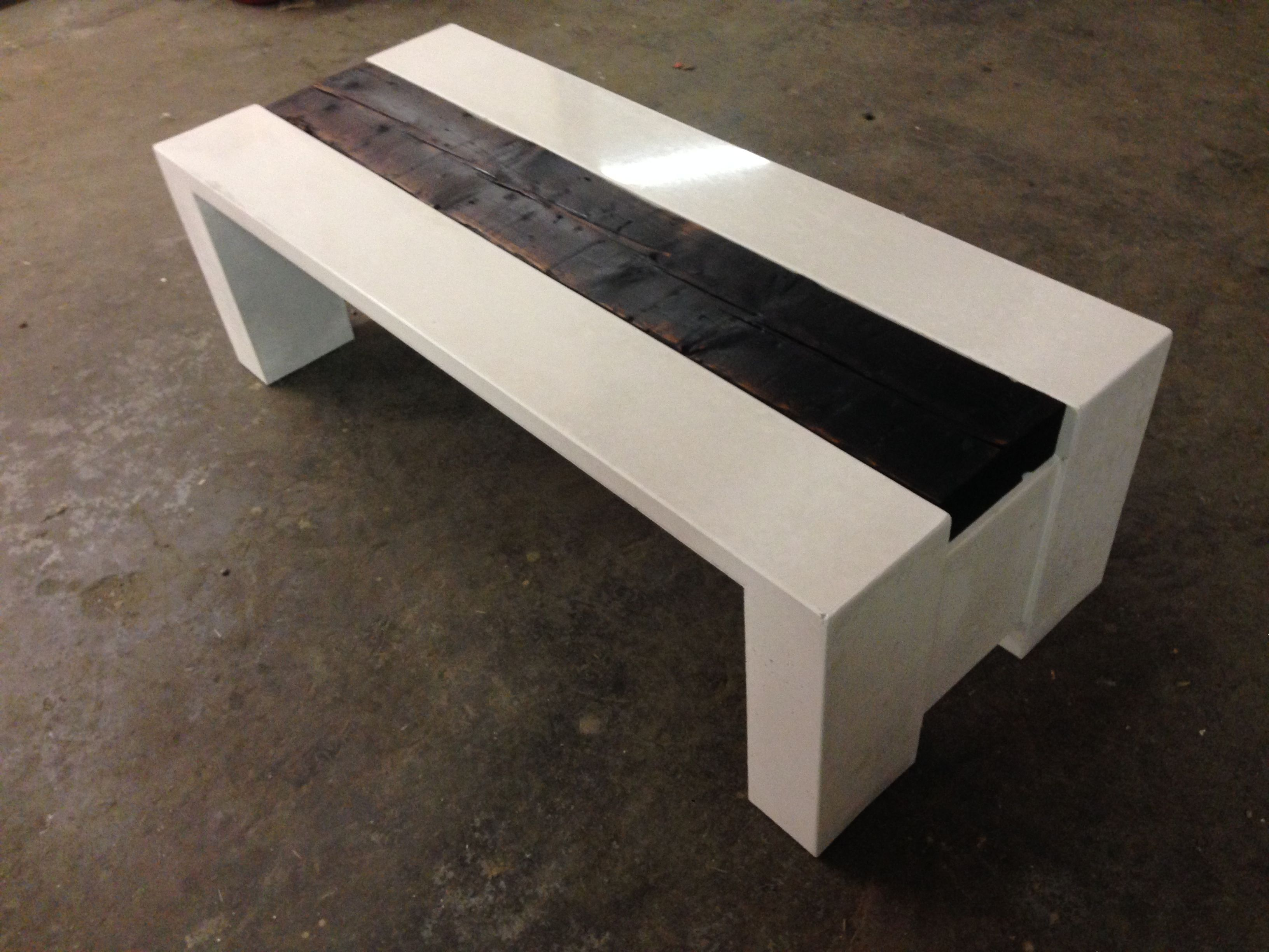 White And Timber Coffee Table White Concrete Coffee Table With A Floating Shou Sugi Ban