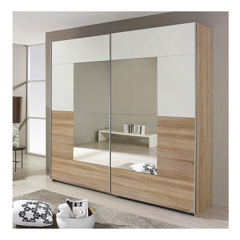 armoire 2 portes coulissantes diva pas cher l218xh210 cm prix armoire auchan meubles. Black Bedroom Furniture Sets. Home Design Ideas