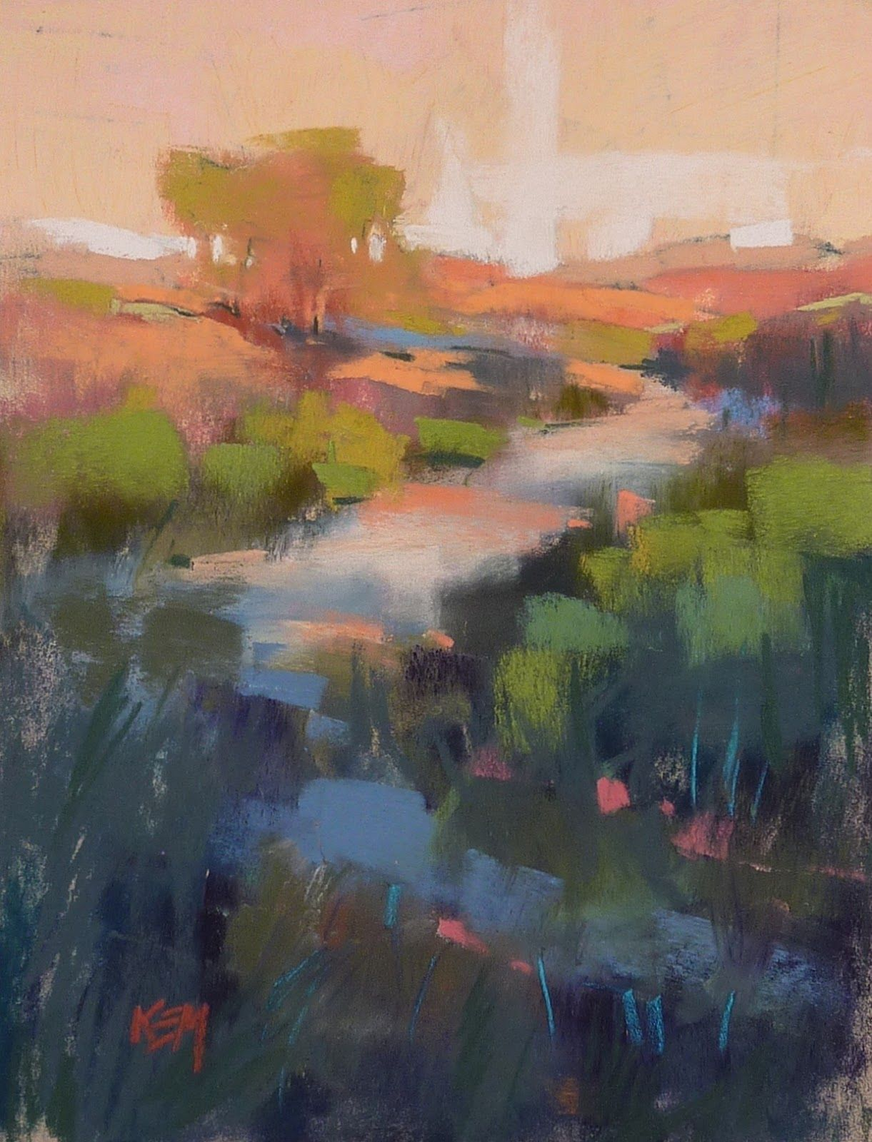 'Late Afternoon Impression'        8x6      pastel      ©Karen Margulis available $95    Of course it matters. Even when we are just pract...