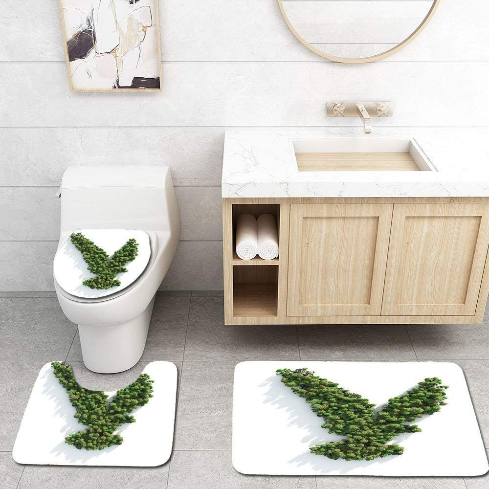 Flannel Top Non Slip Backing Easy To Clean Can Be Directly Washed By Washing Machine Or Hands Not Shed And Fade In 2020 Bathroom Rug Sets Bathroom Rugs Bath Rug