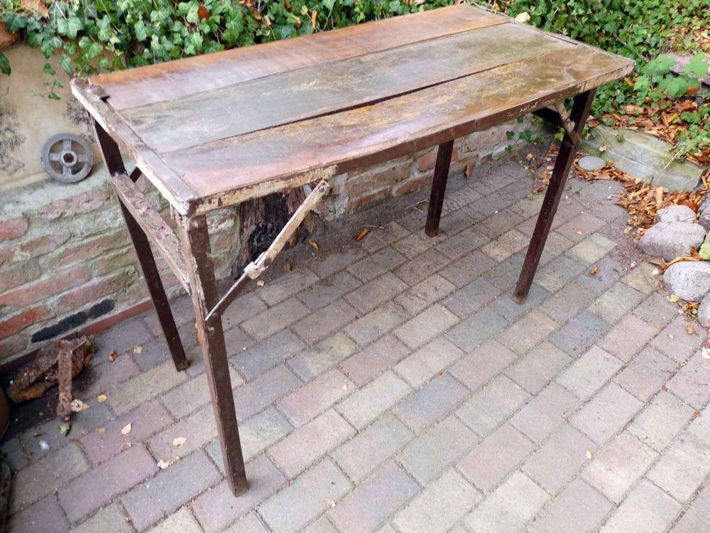 Esstisch Tisch Industrie Design Loft Holz Metall Klapptisch