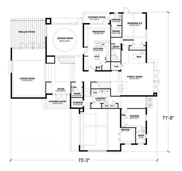 First Level Floor Plan I Like But Knock Out Sauna Cabana To Make Br Bigger For Folks Living Room Closed Off As Gym Need Porch