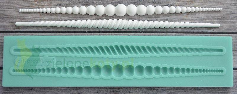 Forma Foremka Silikonowa Ornamenty Border Koraliki Casting Supplies Silicone Molds Craft Molds