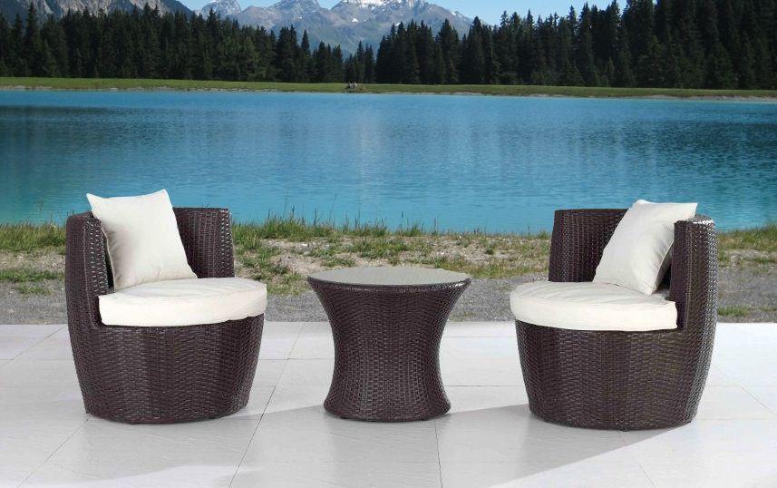 Condo Patio Furniture Umbrella Sets Bistro Dining Set