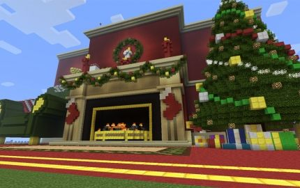 Minecraft Christmas Houses.Minecraft Christmas Fireplace Minecraft Christmas Cool