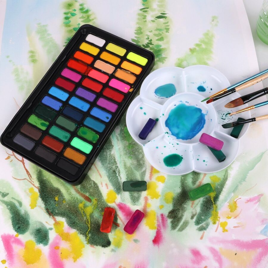 Aquarellfarben Wasserfarben Set A 2036 Lebendige Farben Ad