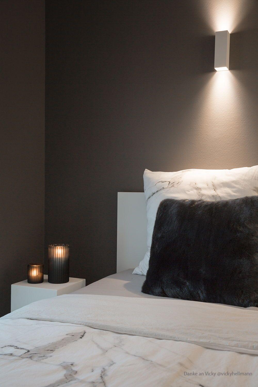 Dunkelgrau Im Schlafzimmer Mit Wandfarbe Von Www Kolorat De