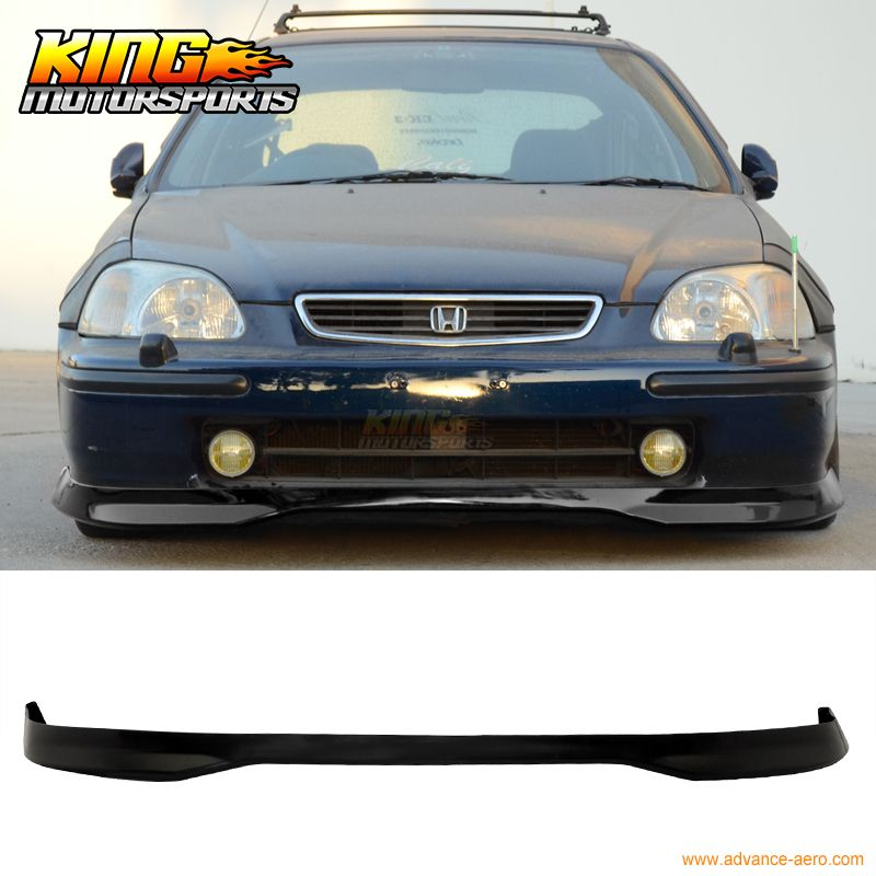 Jdm T R Style Black Poly Propylene Front Bumper Lip Spoiler For 96 97 98 Honda Civic Honda Civic Type R Honda Civic Civic