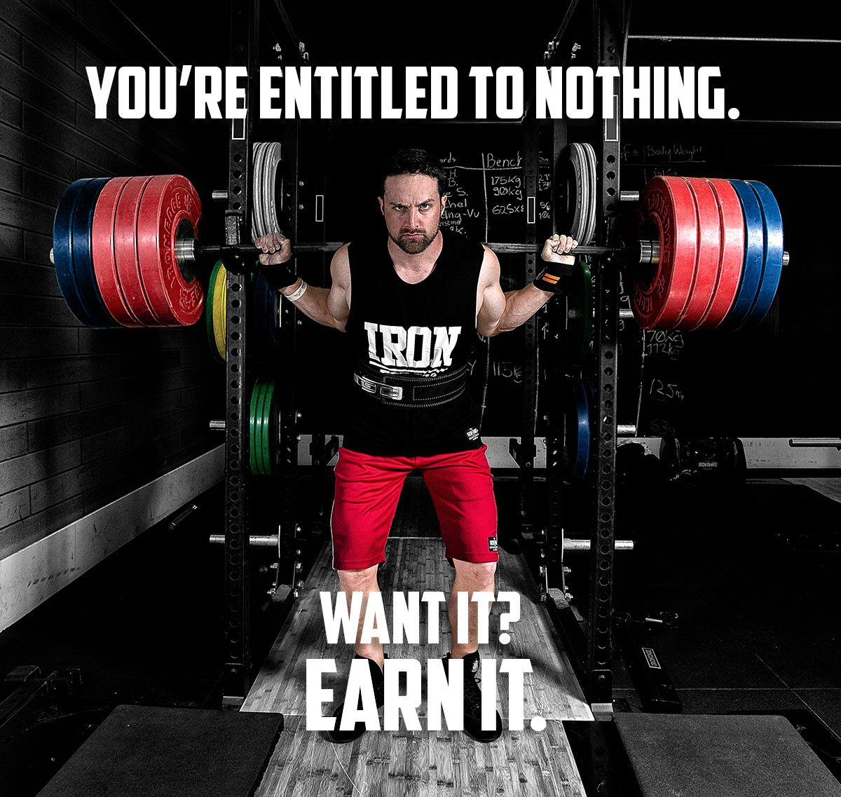 True Grit Always Reigns Supreme Want It Earn It Philosophy Via Layne Norton Irontanksgymgear Com Built Iron Gym Gear Fitness Motivation Layne Norton