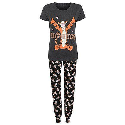 newest style of lovely design fashion style Disney Winnie the Pooh Tigger Pyjama Set | Women | George at ...