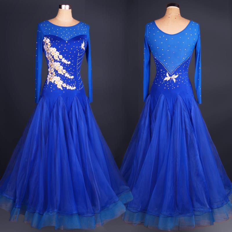 7a866e512f8 Pas cher Dames salle de bal robe de danse standard pour femmes costumes  standard…