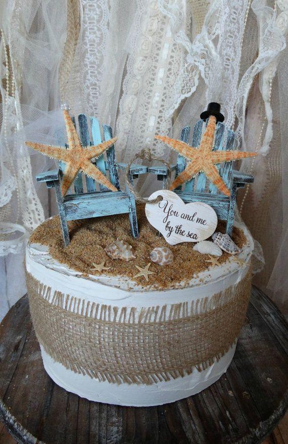 StarfishAdirondack chairwedding cake topperbeach