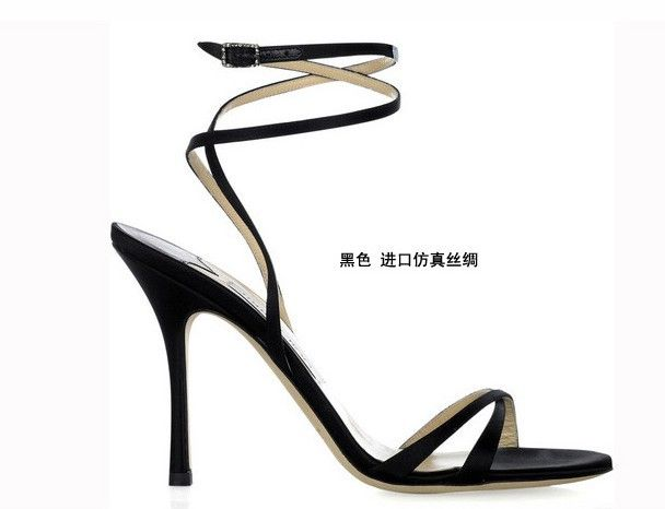 black Strappy Heels Sandals Shoes