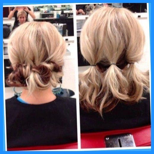 Quick Easy Updo For Medium Length Hair Short Messy Bun Hairstyles Hairdos Styles Do Updos Within Easy Hair Updos Medium Length Hair Styles Short Hair Lengths