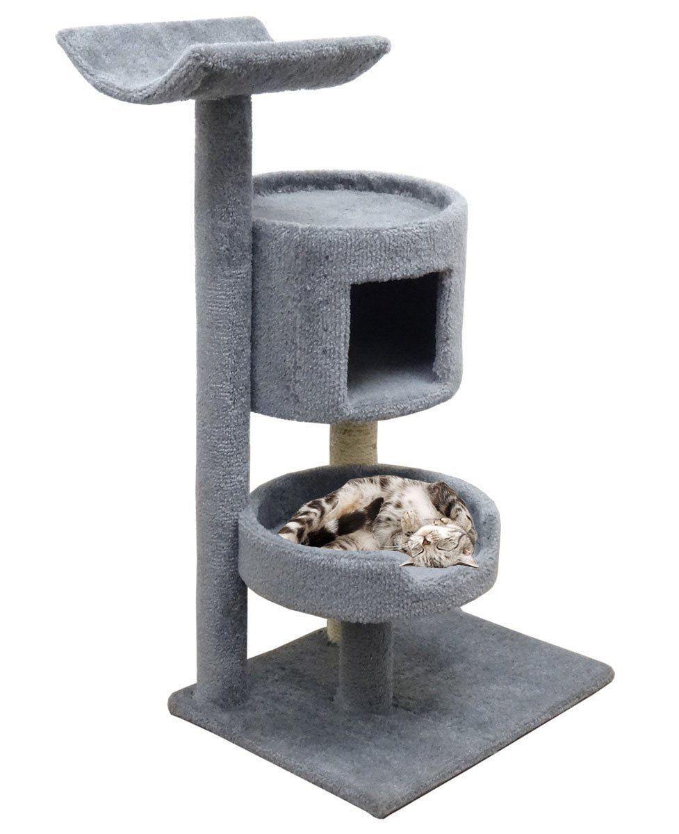 cat    carpet cat condo hammock     carpet cat condo hammock 45 inch gray kitty tower tree with large      rh   pinterest