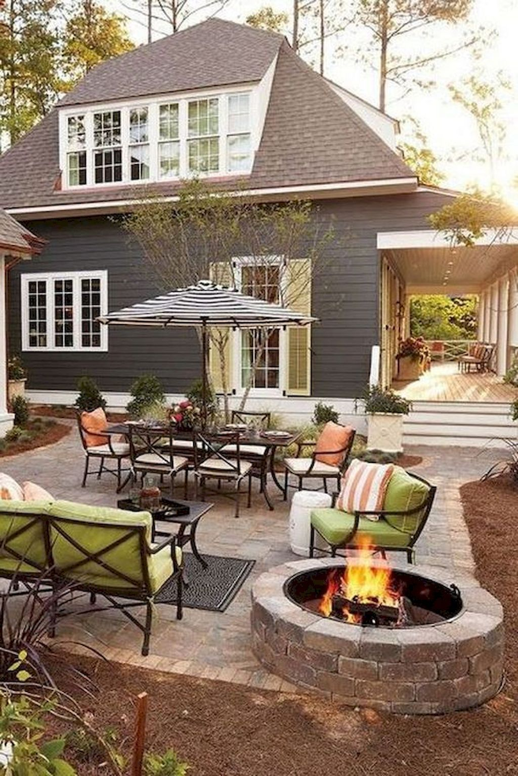 70 easy diy outdoor fire pit and cozy seating area ideas on modern deck patio ideas for backyard design and decoration ideas id=78283